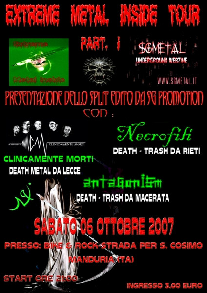 Extreme Metal Inside Tour Part 1 - Locandina